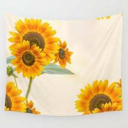 Sunflowers paterns Wall Tapestry