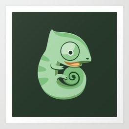 Baby chameleons Art Print