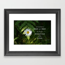 Clothed with Strength Framed Art Print