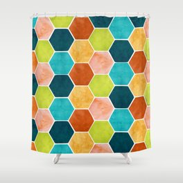 Modern Moroccan Pattern Shower Curtain