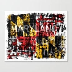 Maryland Flag Print Canvas Print