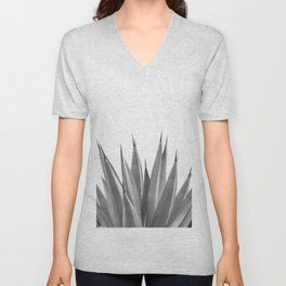 Gray Agave Dream #1 #tropical #decor #art #society6 Unisex V-Neck