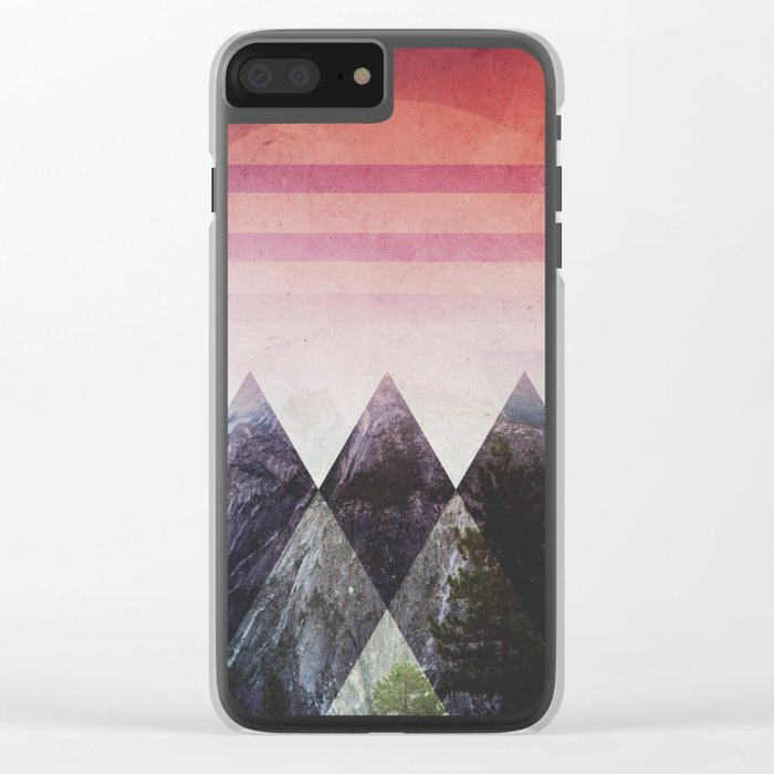 Fractions B00 Clear iPhone Case