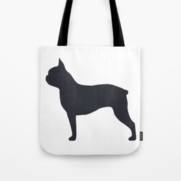 boston terrier silhouette Tote Bag