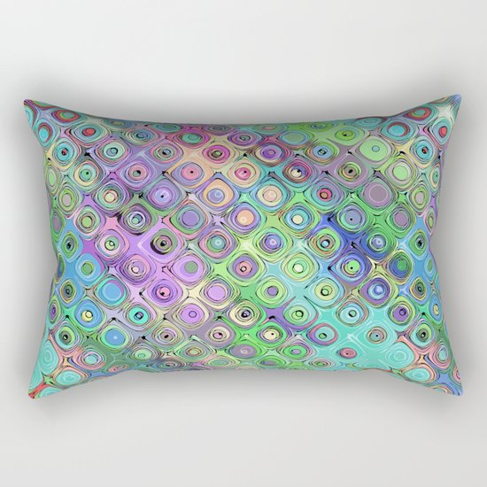 Abstract Pattern of Colorful Shapes  Rectangular Pillow