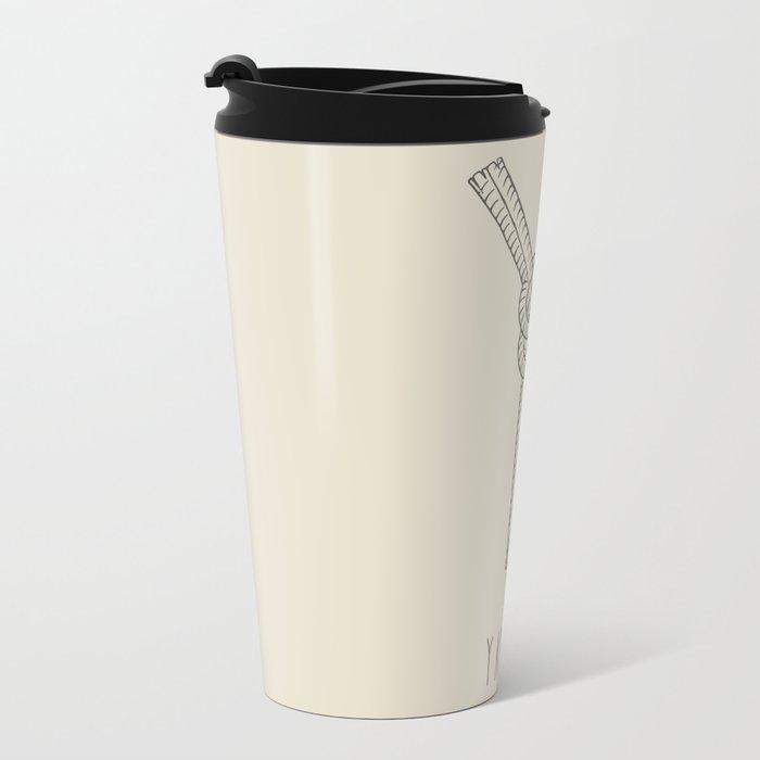 """""""Y"""" Knot Metal Travel Mug"""
