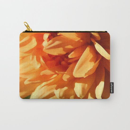 Vermont Autumn Golden Flower Carry-All Pouch