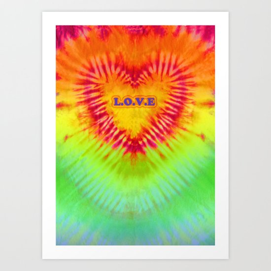Dye Heart L.O.V.E Art Print
