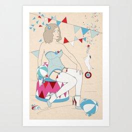 circus 1/2 Art Print
