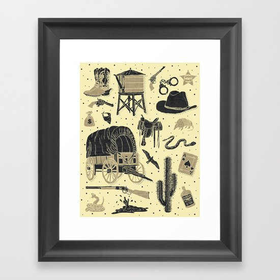 Mild West Framed Art Print