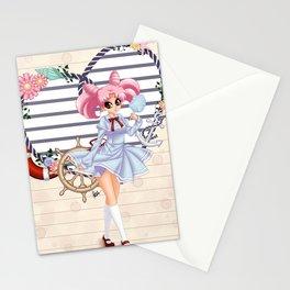 Nautical ChibiUsa Stationery Cards