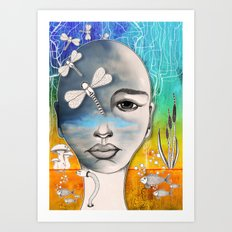 Lady of the water Art Print