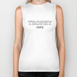 Trophy Wife Top Funny Gift Slogan I Love My Marriage Wifey Biker Tank