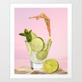 I need a drink Art Print