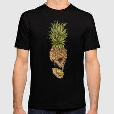 Pineapple Skull Black MEDIUM Mens Fitted Tee