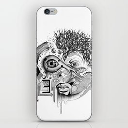 mad scientist iPhone Skin