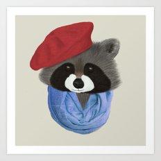 Hip Raccoon Art Print