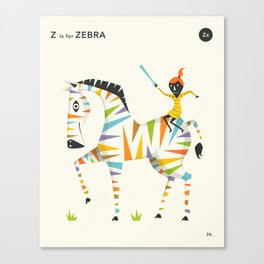Z is for ZEBRA Canvas Print