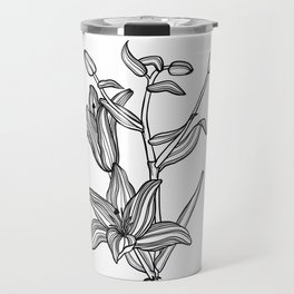 Lily Botanical Illustration Travel Mug