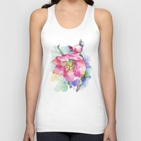 cherry blossom Tank Tops featuring Cherry Blossom by A cup of grey tea