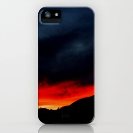 Australian Sunset in Summer iPhone Case