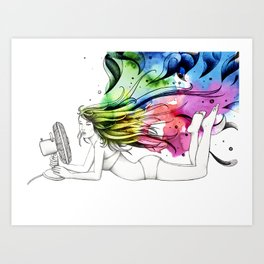 #16 - ventilatore (colore) Art Print