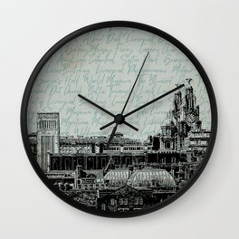Liverpool Landmarks Wall Clock