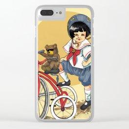 Sailor Biker girl Clear iPhone Case