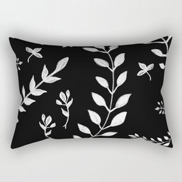 White Leaves Pattern #3 #drawing #decor #art #society6 Rectangular Pillow