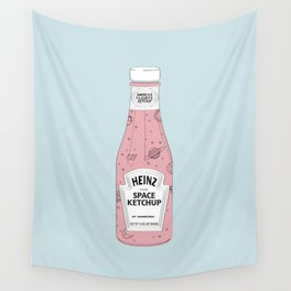 Space Ketchup Draw Wall Tapestry