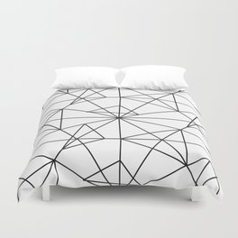 Contemporary black white abstract geometrical Duvet Cover