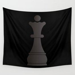 Black queen chess piece Wall Tapestry
