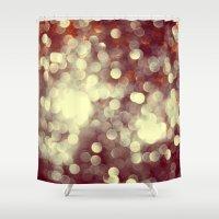 glitter Shower Curtains featuring Glitter by Mark Mayr