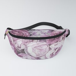 Peony pink roses floral Fanny Pack