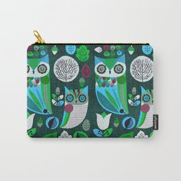 Night Owls Retro Pattern Carry-All Pouch