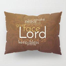 Christian Priestly Blessing Word Art on Damask Pillow Sham