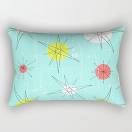 Atomic Era Art 'Planets' Rectangular Pillow