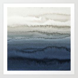 WITHIN THE TIDES - CRUSHING WAVES BLUE Art Print