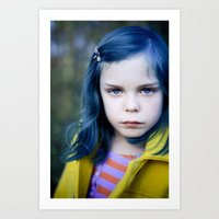 coraline Art Prints featuring Coraline by Malice of Alice
