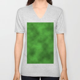 Vivid Green Foil Smooth Metal Texture Festive / Christmas Unisex V-Neck