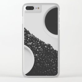 Black and White Coffee Clear iPhone Case