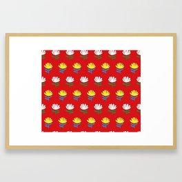 Exotic flowers Framed Art Print