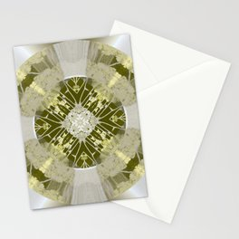 Microchip Mandala in Gold Stationery Cards