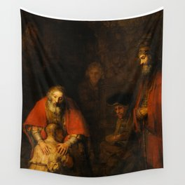 Return of the Prodigal Son, 1663-1665 by Rembrandt van Rijn Wall Tapestry