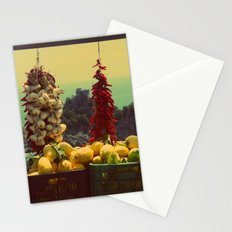 Garlic, Peppers & Lemons in Amalfi, Italy Stationery Cards