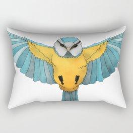 Blue Tit Rectangular Pillow