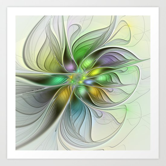 Colors Make My Day, Abstract Fractal Art Art Print
