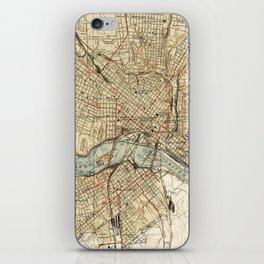 Vintage Map of Richmond Virginia (1934) iPhone Skin