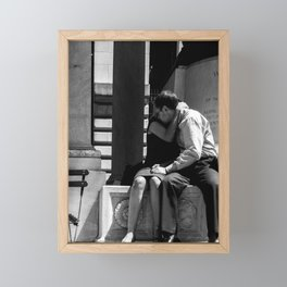 Woman Grieving in a Man Chest Framed Mini Art Print