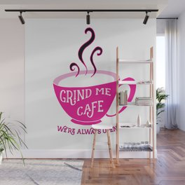 Grind Me Cafe Wall Mural